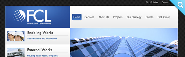 fcl infrastructure 3i media website design