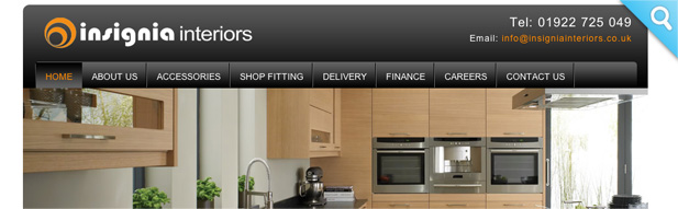insignia kitchens 3i media website design